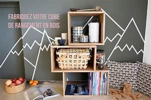 Cube En Bois Rangement : comment faire un cube de rangement en bois be frenchie ~ Melissatoandfro.com Idées de Décoration