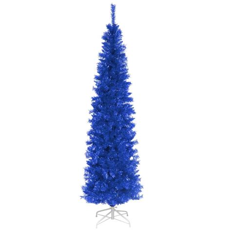 national tree company 6 ft blue tinsel artificial