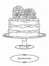 Coloring Southern Cakes Cake Velvet Turned Ve Southernliving Korean Ambrosia Adult sketch template