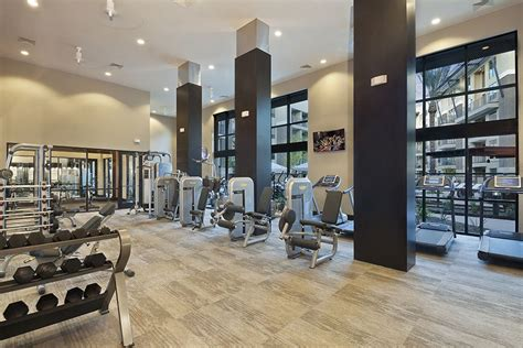 Apartment Fitness Center by Circuit Luxury Apartments Black Friday Sale