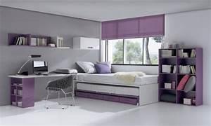 50 idees pour la decoration chambre ado moderne With chambre blanc et violet