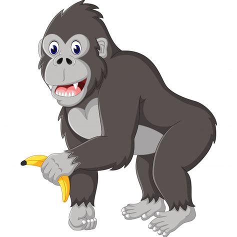 Ilustração de desenhos animados engraçados gorila Vetor