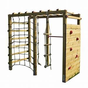 Klettergerüst Selber Bauen : kinder kletterger st holz premium mit kletterwand kletternetz von gartenpirat de ~ Sanjose-hotels-ca.com Haus und Dekorationen
