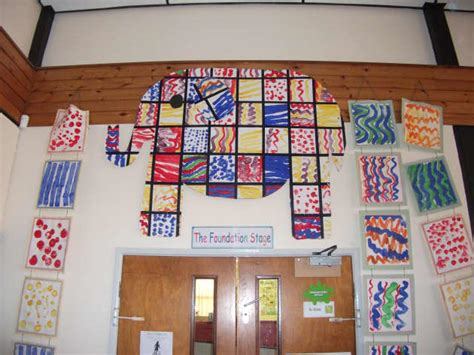 Patchwork Elmer Display, Classroom Display,elmer, Elephant Video Art Adalah Space Store Jobs Performing Arts Center Van Nuys Haskell Baby Valentine Project Deco Posters London Transport Easter Clip Frame Council