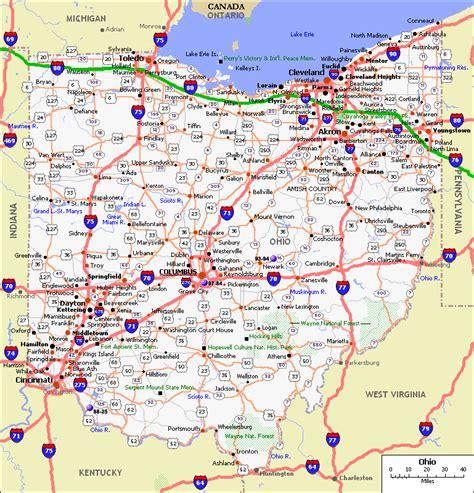map  ohio toursmapscom