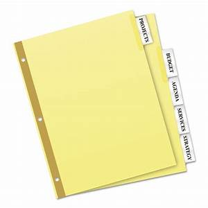 Insertable big tab dividers 5 tab letter zerbee for Avery 3 tab dividers