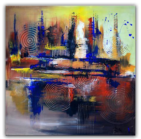 Abstrakte Kunst Leinwand by Bild Braun Kreise Acrylbilder Abstrakt Alex B Bei