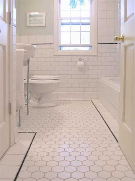37 Black And White Hexagon Bathroom Floor Tile Ideas And