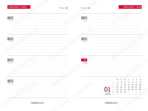 daily calendar planner notebook template year printable planner