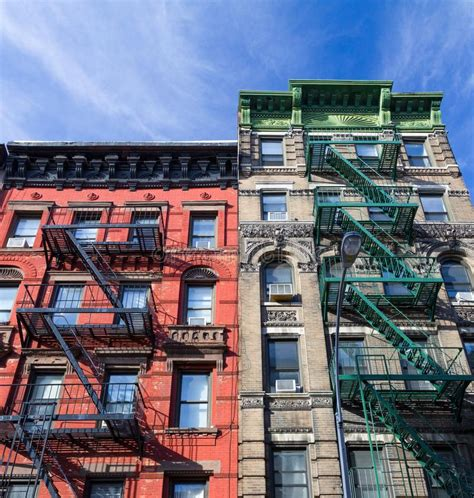 Colorful New York City Apartment by Colorful Apartment Buildings New York City Stock