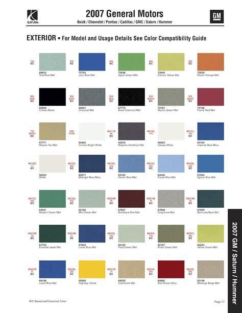 gm paint codes 2015 autos post