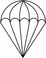Parachute Coloring Drawing Template Clipart Sketch Pages Glass Stained Outline Cliparts Paratrooper Patterns Parachutes Templates Drawn Vector Clip Colouring Darryl sketch template
