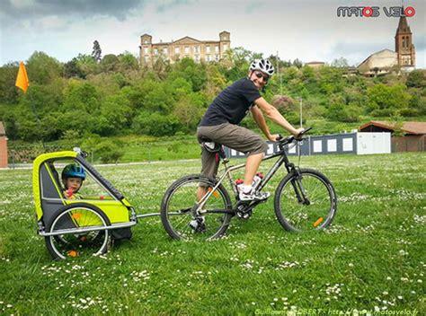 siege bébé comment rouler avec une remorque vélo enfants matos