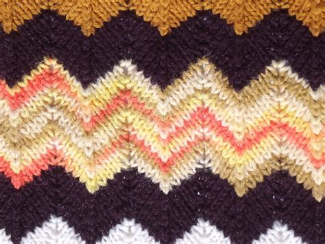 retro  vintage crochet afghan throw blanket autumn