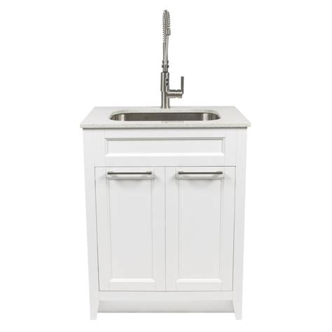 white laundry sink cabinet shop foremost warner 29 in x 22 in white laundry cabinet