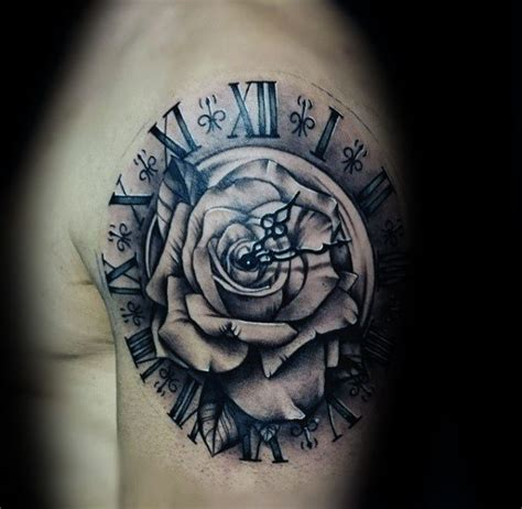 roman numeral tattoos  men manly numerical ink ideas