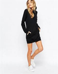 puma puma quilted hooded sweatshirt dress at asos With robe pull capuche