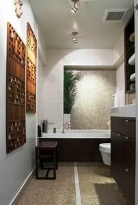 photo salle de bain zen idees pour une decoration relaxante With petite salle de bain zen