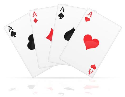 playing cards aces   suits vector illustration