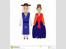 Korean national dress stock vector Illustration of style