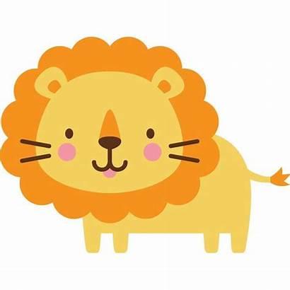 Clipart Animals Critter Yellow Lion Cricut Clip