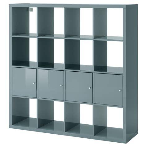 etagere de bureau ikea kallax shelving unit with 4 inserts high gloss grey