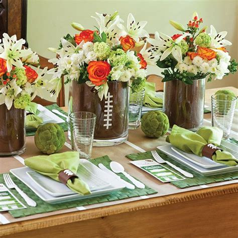 sports centerpieces for tables sports themed wedding ideas march wedding madness