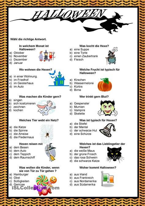 Halloween  Quiz  Halloween  Halloween Arbeitsblätter