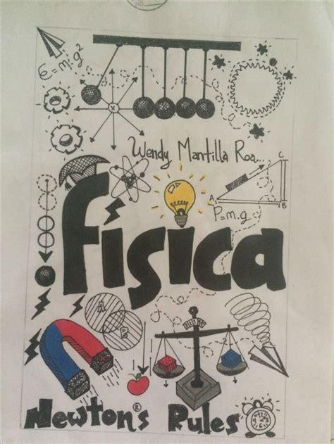 fisica portada de cuaderno de dibujos arte en cuadernos  portadas de cuadernos