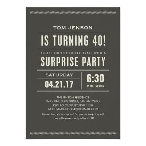 40th Birthday Invitation Bagvania FREE Printable