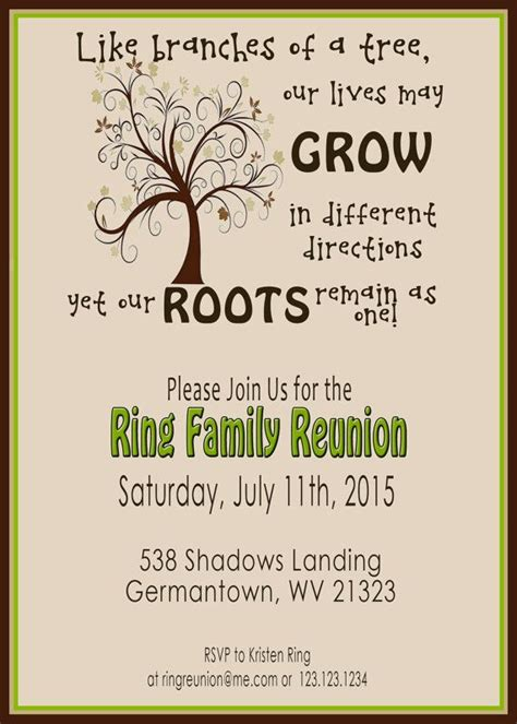 family reunion invite swirly tree printable digital