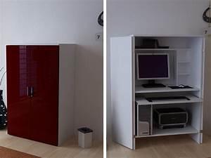 Pc Schrank Weiß : computerschrank pc b ro schrank wei bordeaux hochglanz ~ Frokenaadalensverden.com Haus und Dekorationen