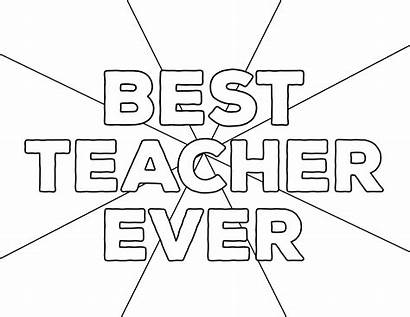 Teacher Coloring Appreciation Ever Printable Paper Thank