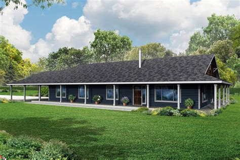 one story home single story ranch style house plans with wrap around porch