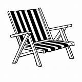 Chair Beach Coloring Drawing Clipart Adirondack Chairs Pages Lawn Deck Umbrella Line Patio Clip Cliparts Google Getdrawings Library Lounge Various sketch template