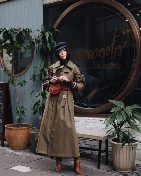 Coat Tumblr Long Trench Khaki Bag Brown