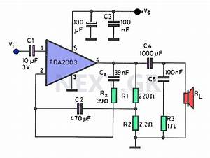8w Amplifier With Tda2003 Circuit