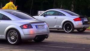 Audi Tt 1 : audi tt 1 8t quattro sport vs audi tt 1 8 turbo 8n coupe 1 4 mile race viertelmeile rennen youtube ~ Melissatoandfro.com Idées de Décoration