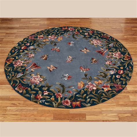 athena garden butterfly floral wool  rugs