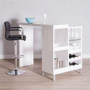 Table Rangement Cuisine : table bar cuisine avec rangement maison design ~ Teatrodelosmanantiales.com Idées de Décoration