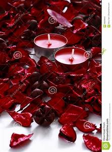 Red roses and candles stock photo. Image of aromatherapy ...