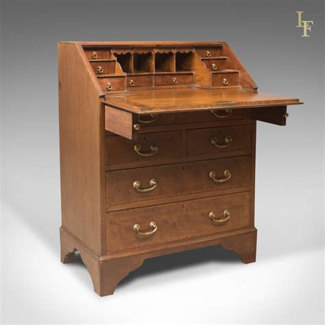 oak bureau desk edwardian antique bureau mahogany oak desk