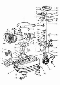 electrolux z823 90018110100 vacuum cleaner housing spare With diagram parts list for model el6989a electroluxparts vacuumparts