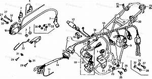 Honda Motorcycle 1977 Oem Parts Diagram For Wire Harness