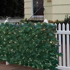 faux ivy privacy fence screen    artificial hedge