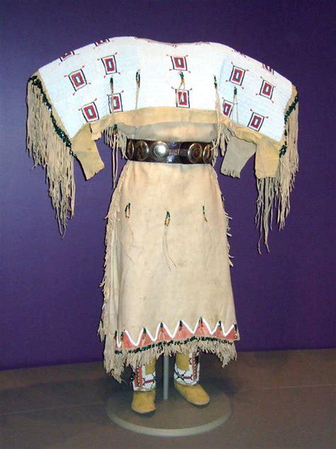 nmaiwomans buckskin dress white shoulders identi