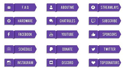 Twitch Info Panel Templates by Nyfree Twitch Panels Streamlays