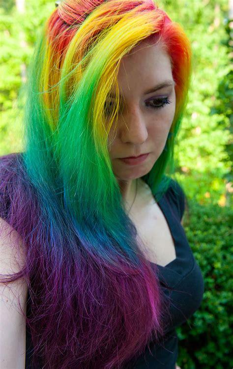 Long Rainbow Hair By Lizzys Photos On Deviantart