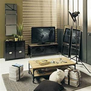 Meuble Tv Maison Du Monde : personnalisez votre salon avec le meuble tv industriel ~ Teatrodelosmanantiales.com Idées de Décoration