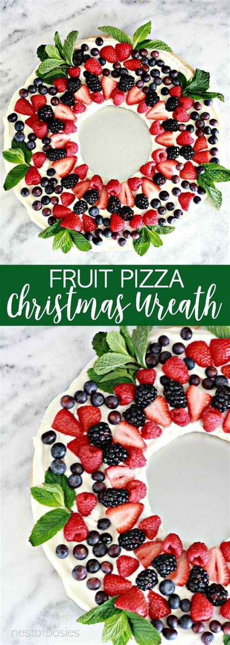 holiday fruit pizza fruit pizza wreath